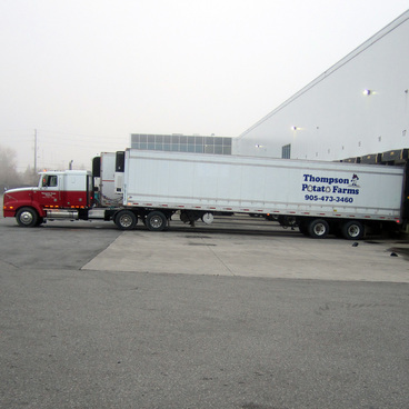 Thompson Potato Farm truck at Ontario Food Terminal
